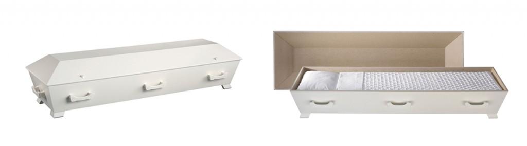 Kiste fra Jølstad i hvitmalt trefiber