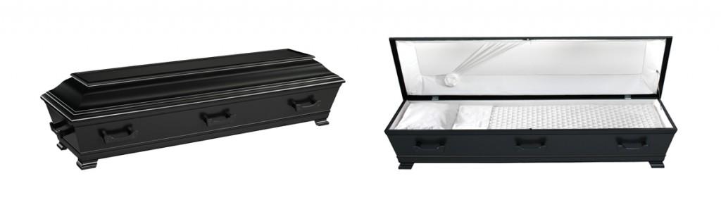 Kiste med svart, vannbasert lakk, fra Jølstad