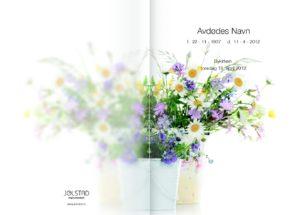 Blomster fra naturen på Jølstads programhefte