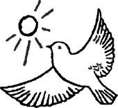Symbolet av fredsdue med sol, fra Jølstad