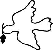 Fredsduen symbol fra Jølstad