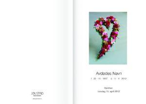 Dråpeformet blomsterhjerte på programheftet fra Jølstad