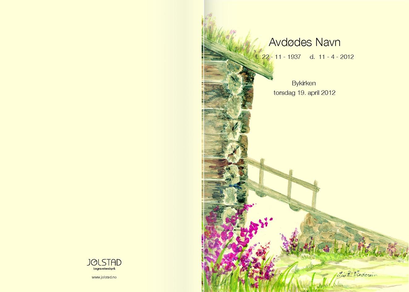 Bilde på forsiden av låvebru, kan fås på programheftet av Jølstad