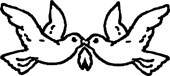 To fredsduer som symbol fra Jølstad
